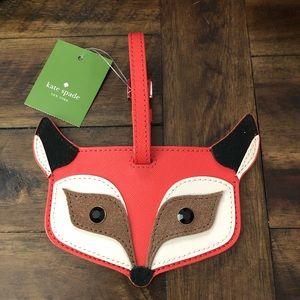 💥SOLD💥RARE Kate Spade Blaze Fox Luggage ID Tag